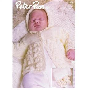 Peter Pan  P1054 Matinee Coat, Bonnet, Bootees,Mitts and Shawl