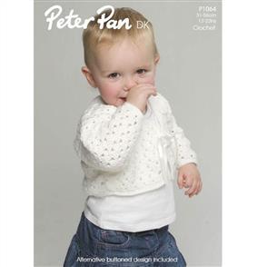 Peter Pan P1064 Crochet V-neck Cardigan and Bolero