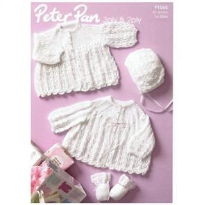 Peter Pan Pattern P1065 Jacket, Bonnet and Mittens