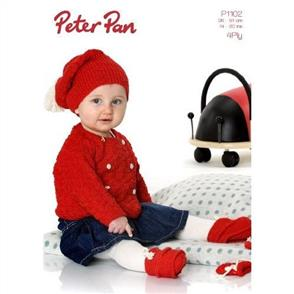 Peter Pan P1102 Basket Weave Collection Jacket, Hat, Mittens, Trainers