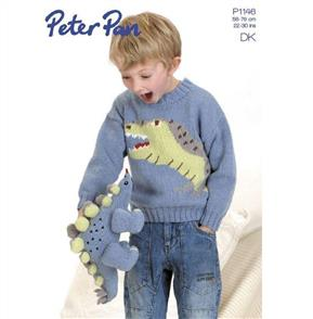 Peter Pan Pattern P1146 Dinosaur Sweater and Toy