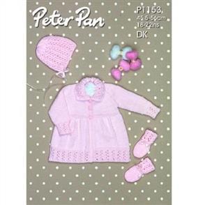Peter Pan  P1153 Coat and Mits