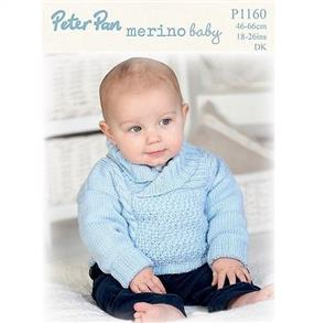 Peter Pan P1160 Sweater with Shawl Collar and Hat