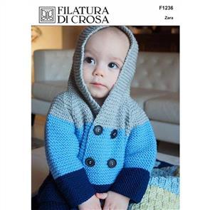 Filatura Di Crosa F1236 - Jacket & Pants - Knitting Pattern