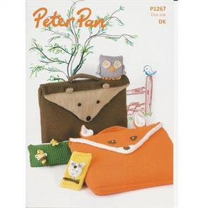 Peter Pan Pattern P1267 Animal Book Bags, Penchil Case, Phone Cover and Owl