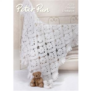 Peter Pan  Pattern P1276 Crochet Shawl and Bootees