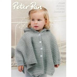 Peter Pan Pattern P1280 Crochet Hooded Cape