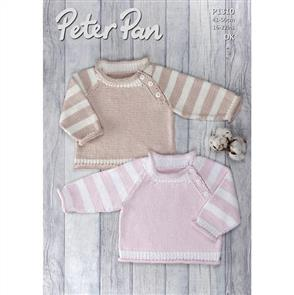Peter Pan  1310 Sweater with Striped Sleeves