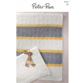 Peter Pan P1317 - Pram Blankets - Knitting Pattern