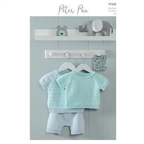 Peter Pan P1326 - T-Shirt and Shorts - Knitting Pattern