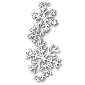 Poppystamps  Dies - Stitched Alpine Snowflake Band