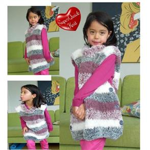 Countrywide Yarns  Fab Fur Pattern P298 - Child's Tunic