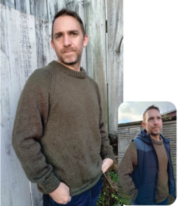 Countrywide Yarns Highland 12 Ply - P345 - Men's Jumper
