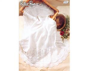 Peter Pan Pattern P820 Baby's Shawl
