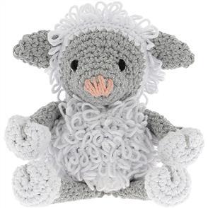 Hoooked Lamb Lewy Yarn Kit - White & Gray