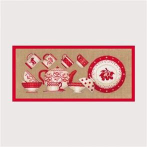 Le Bonheur Des Dames  Red Tableware - Cross Stitch Kit
