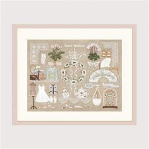 Le Bonheur Des Dames  All White - Cross Stitch Kit