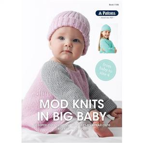 Patons Book 1105 - Mod Knits in Big Baby