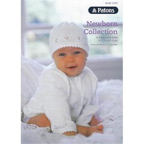 Patons book 1303 - Newborn Collection - 8 Designs