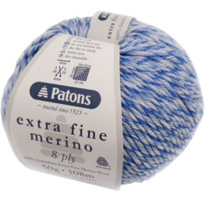 Patons  Extra Fine Merino 8 Ply