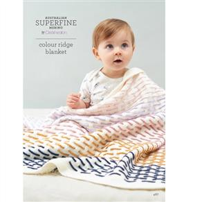 Patons Knitting Pattern 467 - Colour Ridge Blanket