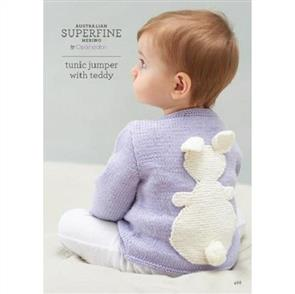 Patons Knitting Pattern 468 - Tunic Jumper with Teddy