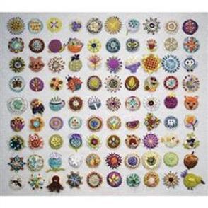 Sue Spargo  Pattern - Toned Down Circle Sampler