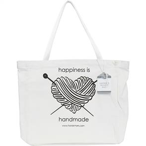 Fair Isle  Canvas Project Bag - happiness is handmade