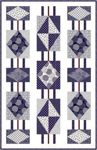P & B Textiles Flair Hanging Diamonds Quilt Design