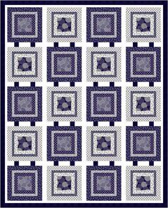 P & B Textiles  Connected Quilt Design by Cyndi Hershey