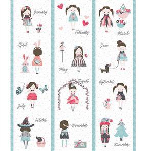"Riley Blake  Abbie's Garden Calendar 36"" Panel"