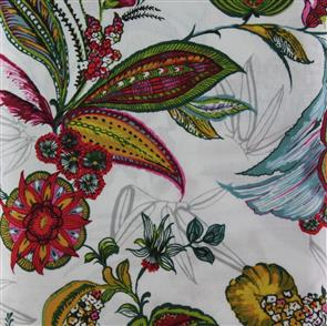 P & B Textiles  - Midnight Gardens - Painted Floral White