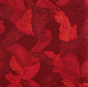 P & B Textiles  P&B Textiles - Midnight Gardens - Red