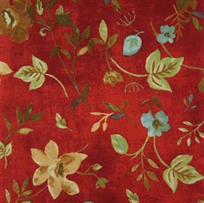 P & B Textiles  P&B Textiles - Silvia's Garden - Floral Red