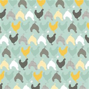 Prairie Sisters  Fabric - Hunt and Peck Mint