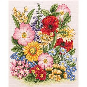 Anchor  Counted Cross Stitch Kit - Meadow Flowers