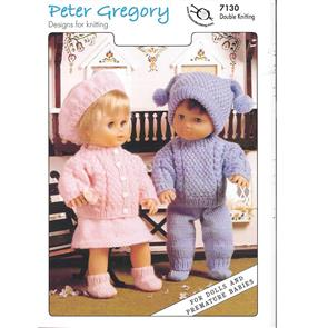 Peter Gregory  Pattern 7130 - Doll's Outfits