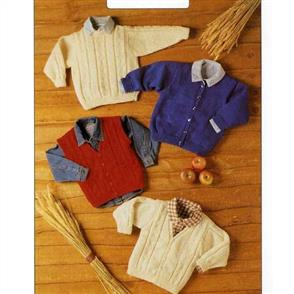 Peter Gregory  Pattern 7150 - Sweater, Cardigan and Waistcoat