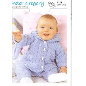 Peter Gregory  Pattern 7178 - Baby Jacket, Trousers and Mitts