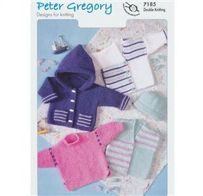 Peter Gregory  Pattern 7185 - Simple Garter Stitch Classics