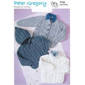 Peter Gregory  Pattern 7192 - Children's Sweater and Jackets