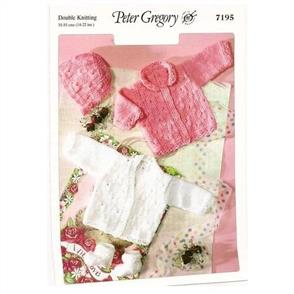 Peter Gregory  Pattern 7195 - Cardigans, Bonnet and Socks