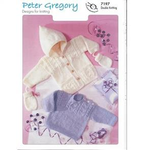 Peter Gregory  Pattern 7197- Sweater, Jacket and Mitts