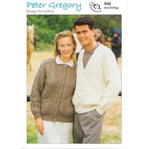 Peter Gregory  Pattern 900 His and Her Round and V-Neck Cardigan