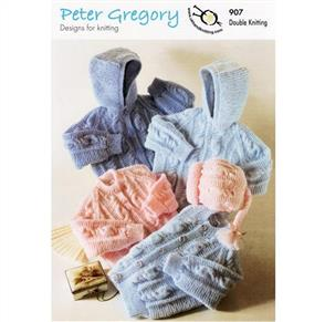 Peter Gregory  Pattern 907 - Jackets, Sweaters and Hat