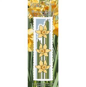 Lyn Manning  Cross Stitch Kit Bookmark - Daffodils Regard