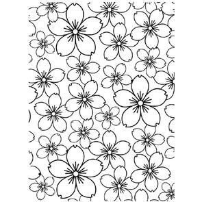 Darice Embossing Folder - Cherry Blossom
