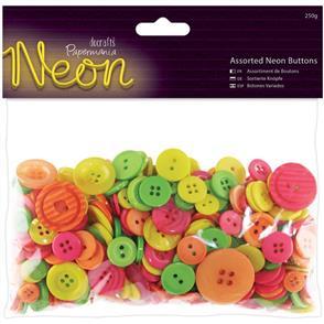 Trendy Trims Bulk Buttons - Neon Assortment 250g