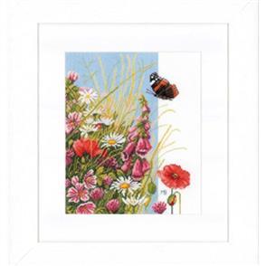 Lanarte  Cross Stitch Kit: Wild Flowers