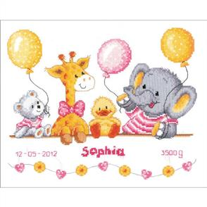 """Vervaco  Counted Cross Stitch Kit 10.75""""X8.75"""" - Baby Shower"""